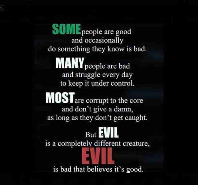 Evil is Bad