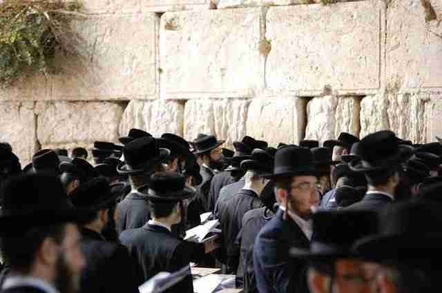 Jews Praying at Wall