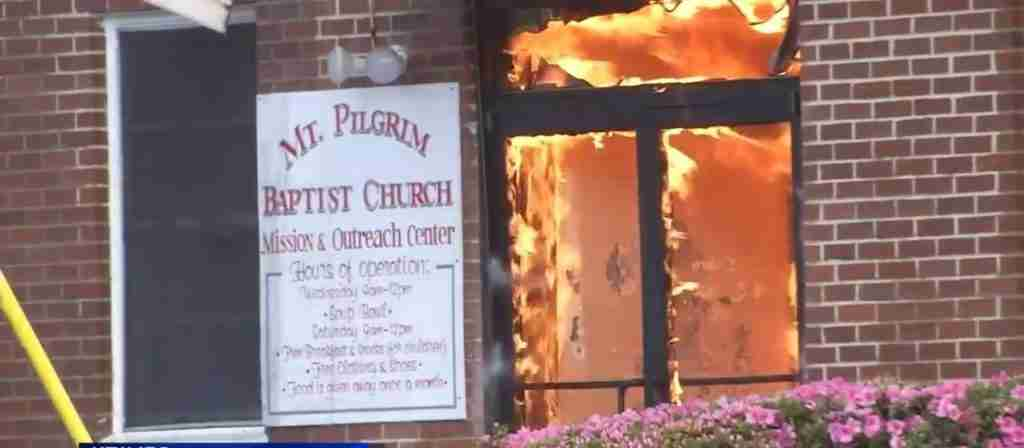 Mt Pilgrims Baptist Church Fire