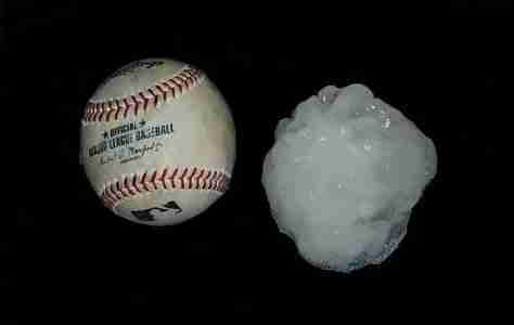 Baseball And Hail Stone2