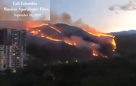 Cali Colombia Fires