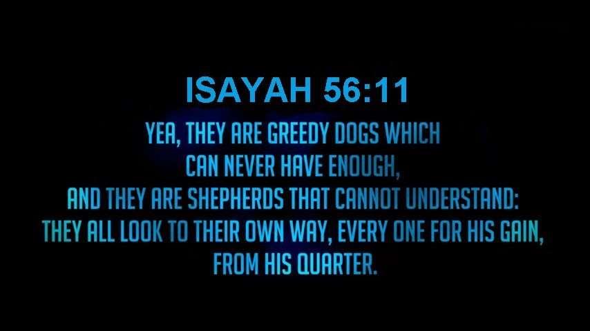 ISAYah 56