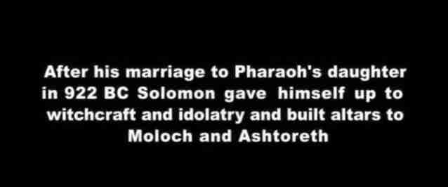 King Solomon Worship Moloch