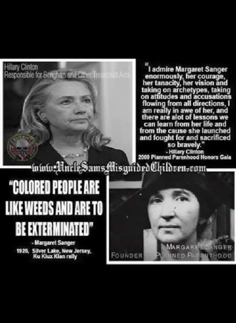 Margret Sanger and Hillary Clinton