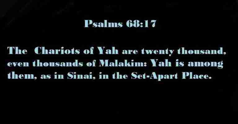 Psalms 68 17 Chariots of Yah