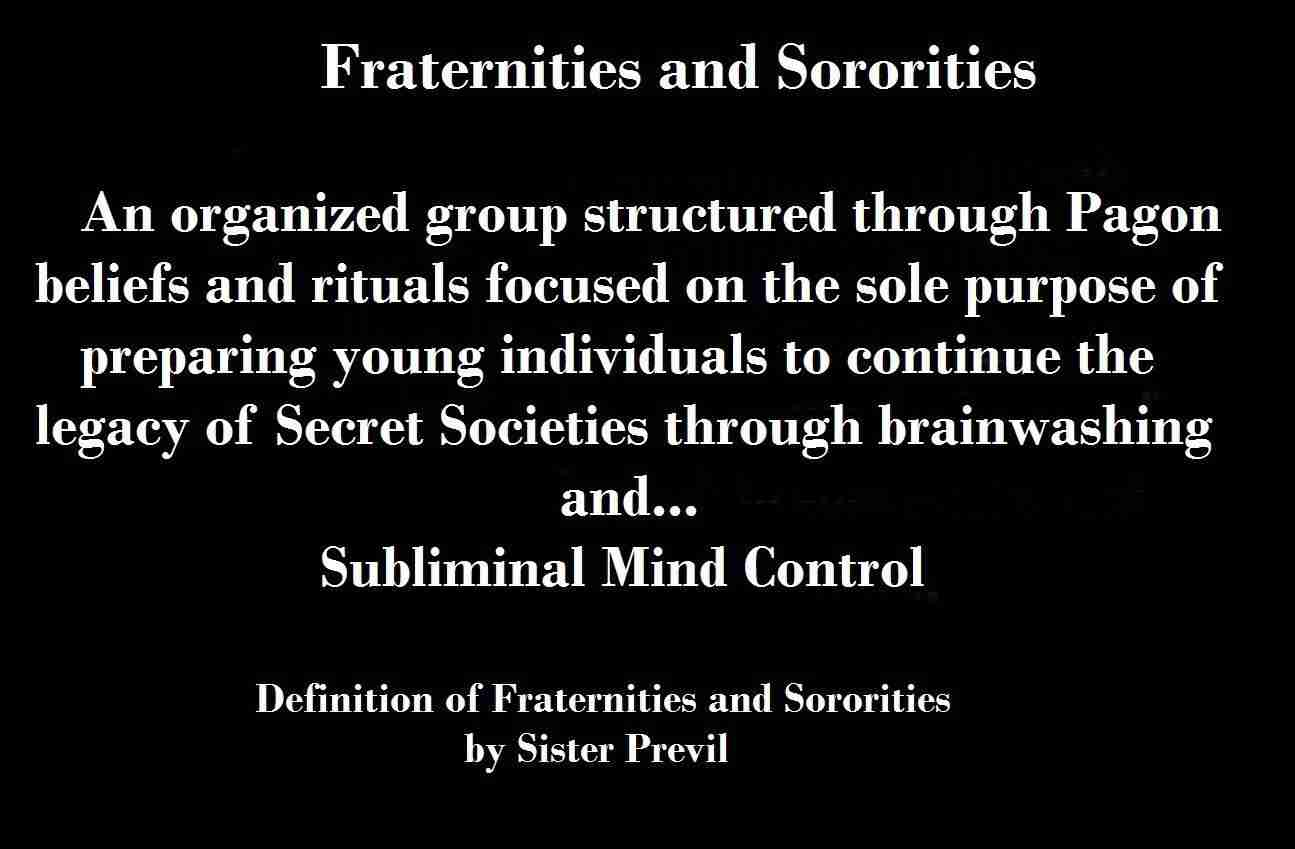 A Definition of Sororities