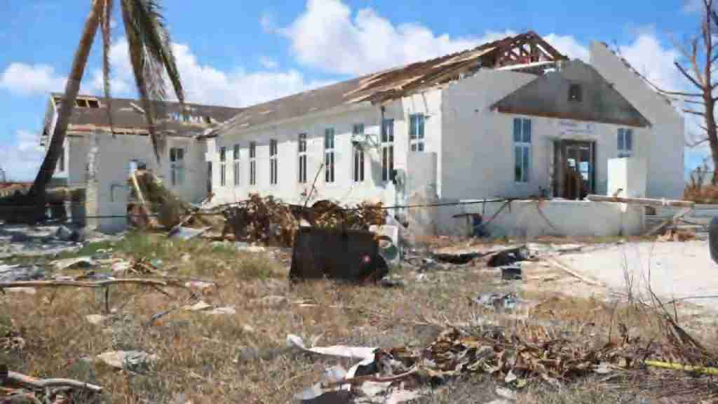 Church Destroyed by Hurricane Dorian