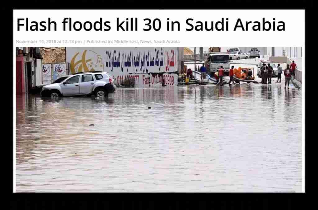 Flash Floods in Saudi Arabia