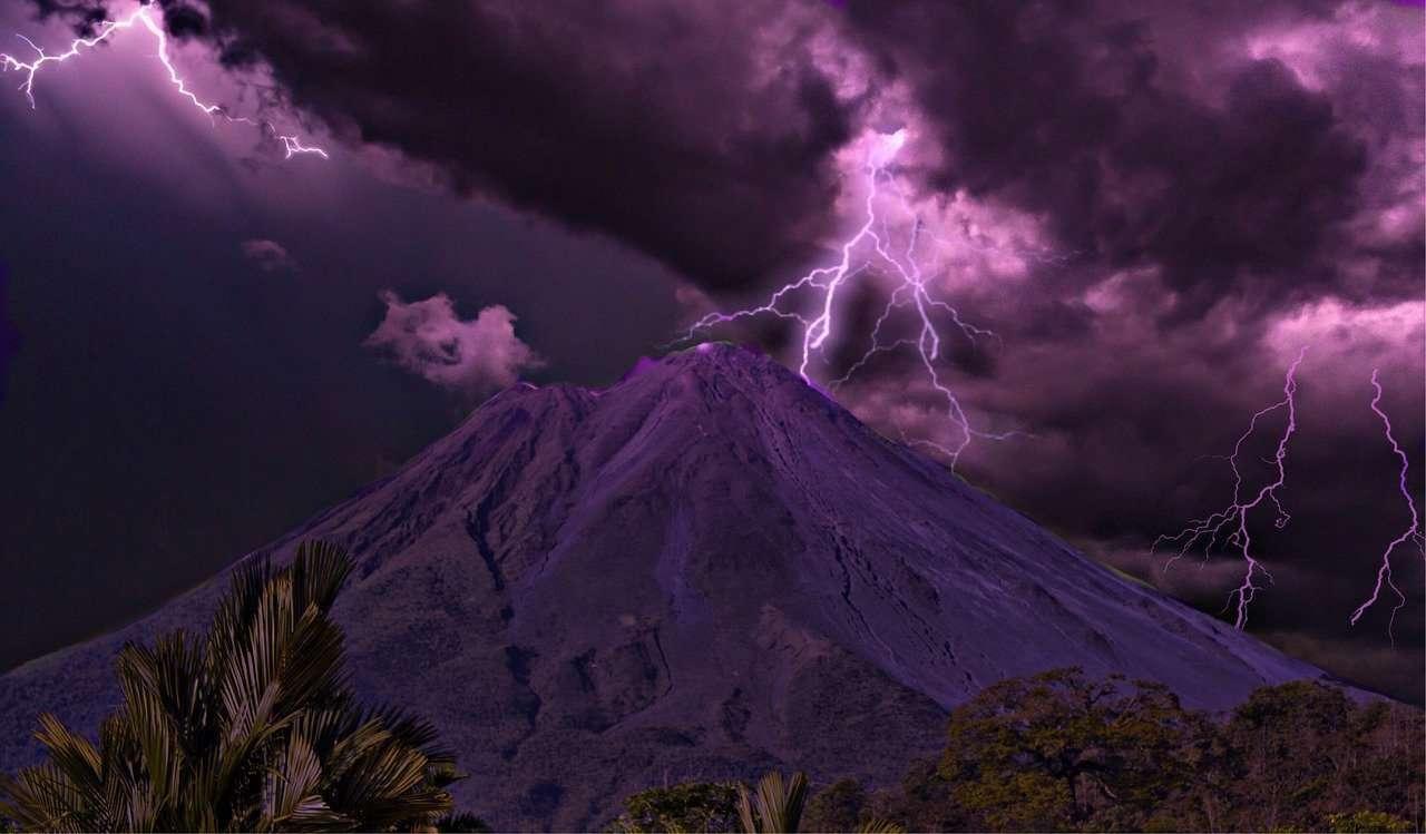 Lightning And Volcano
