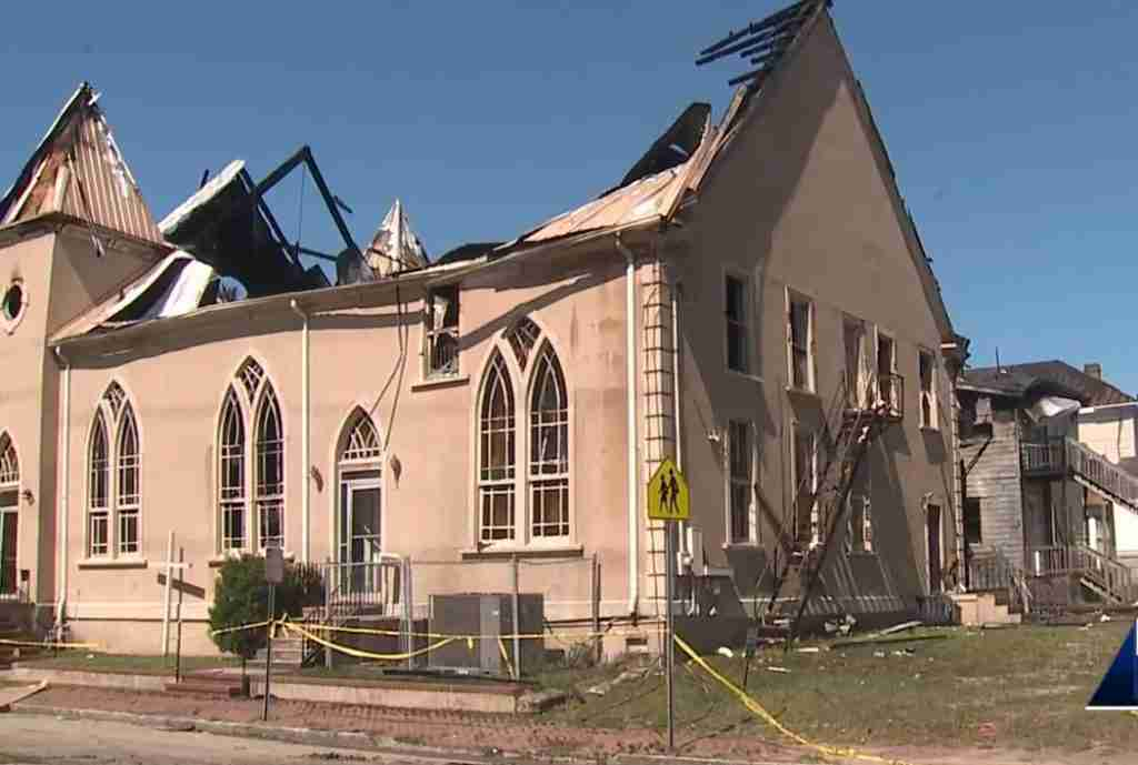 Z Baptist Church Destroyed