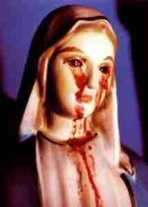 Statue of Mary Blood Tears