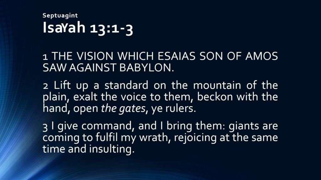 IsaYah 13 1 3