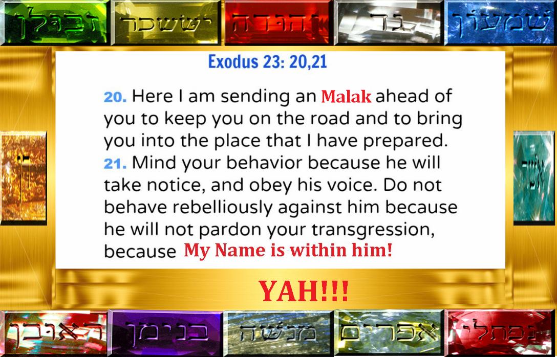 Exodus 23: 20-21