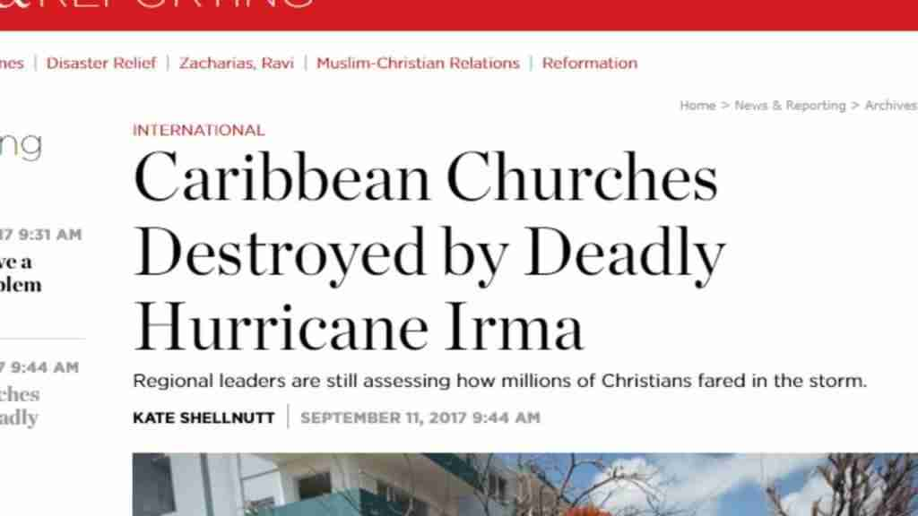 Carabien Churches Destroyed