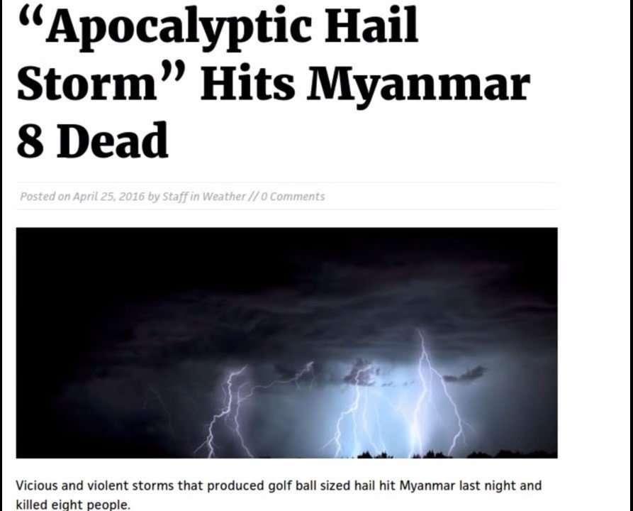 Apocalyptic Hail