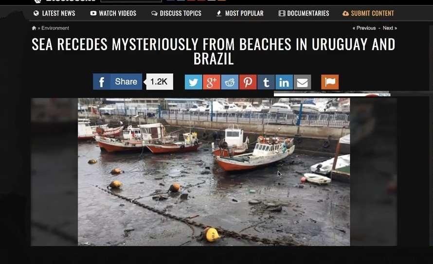 Brazil Sea Dry up