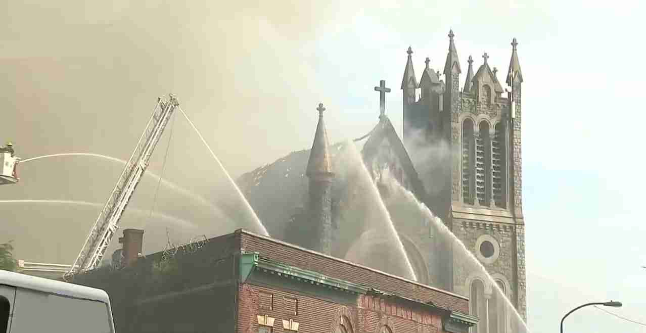 Church Fire in Philidelphi 1