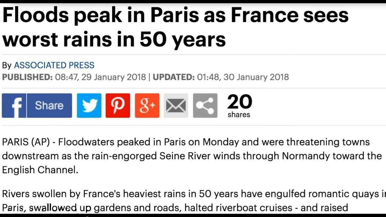 Floods Peaks in Paris 1