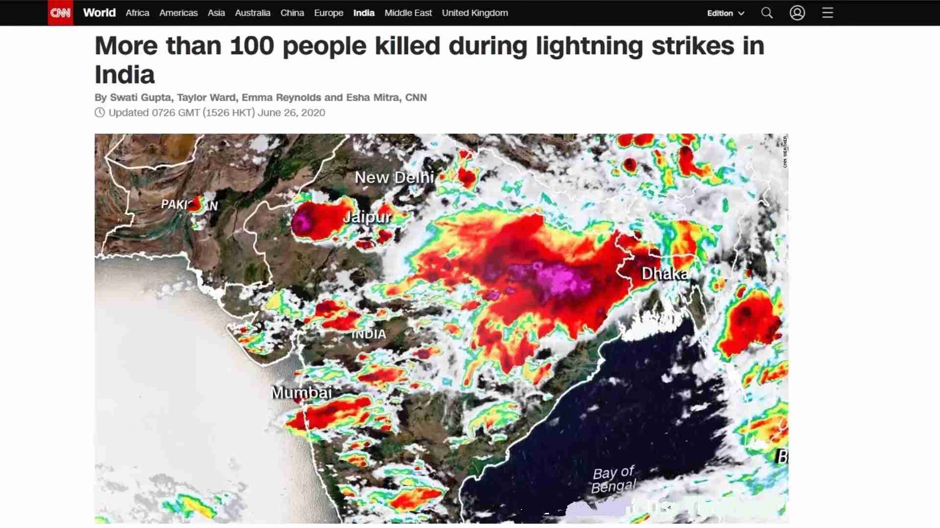 India Lightning Strikes