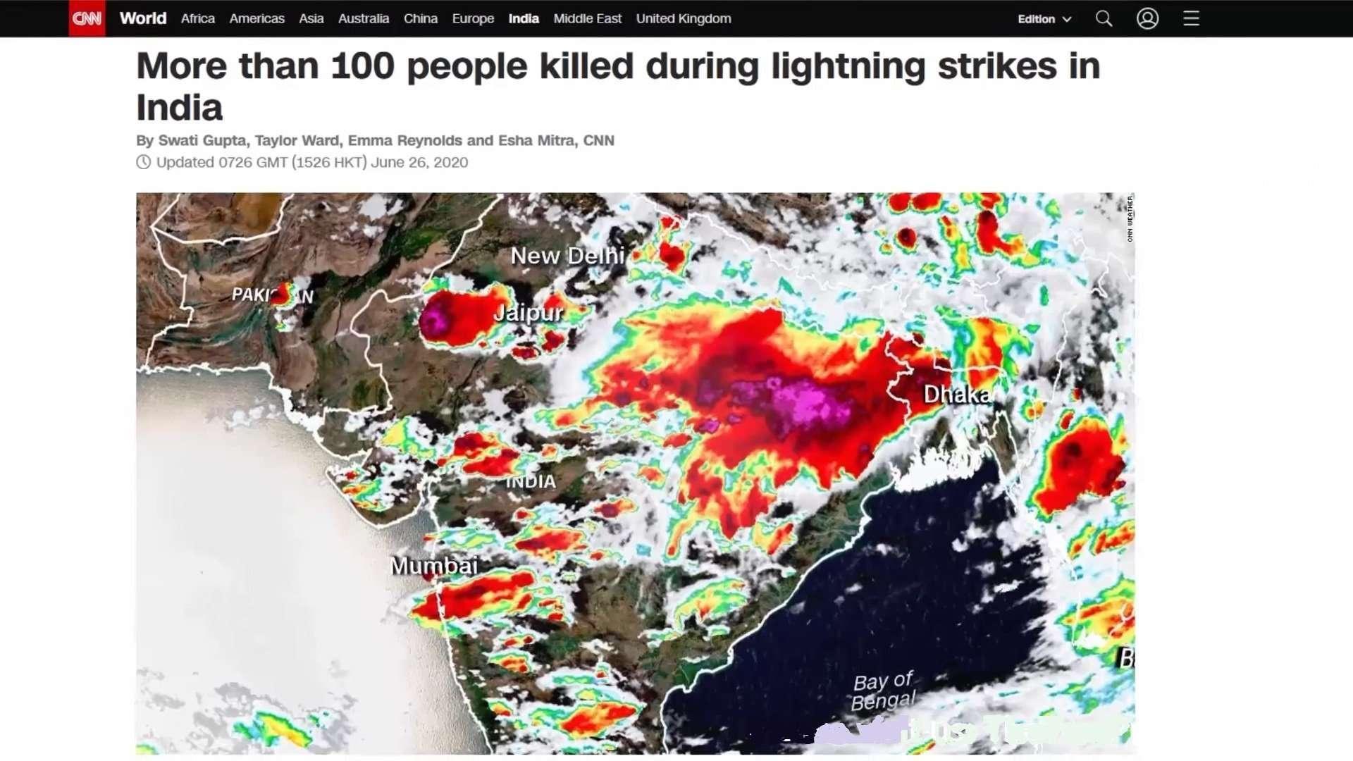 India Lightning Strikes