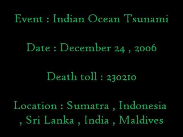 Indian Tusami
