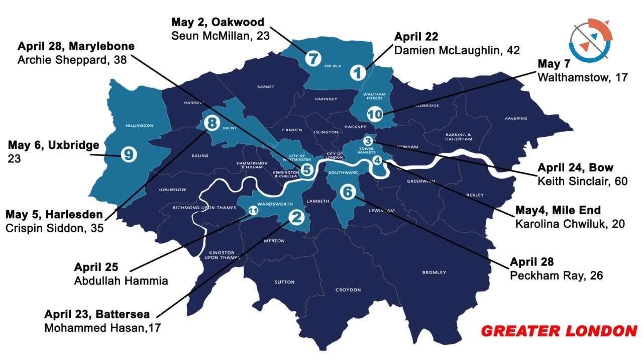 Knife Crimes in London