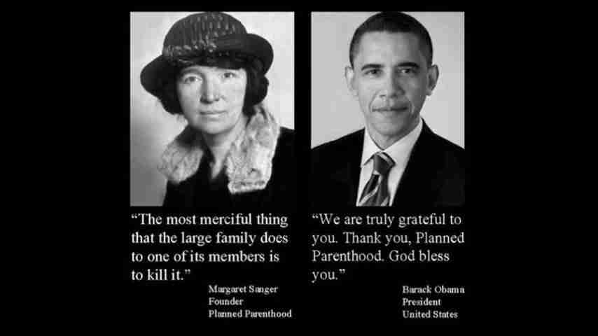 Margret Sanger and Obama