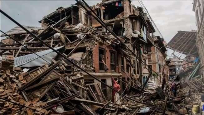 Trashed Building