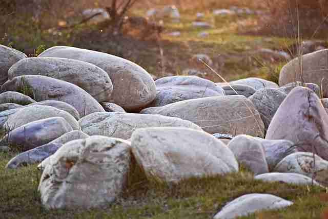 large stones